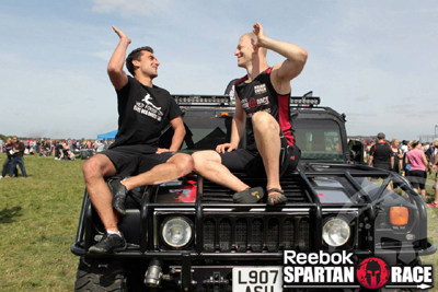 Thomas Blanc elite obstacle racer and Spartan Cahmp with coach and manager Michael Cohen
